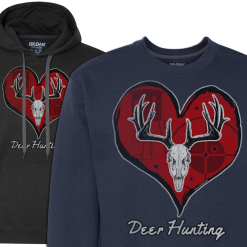 mens love deer hunting hoodie sweatshirt