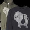 mens sandhill crane hoodie sweater