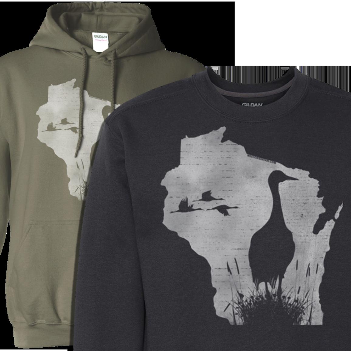 sandhill-crane-mens-hoodie-sweatshirt