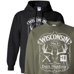 wisconsin deer hunting hoodie design