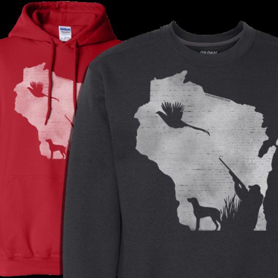wisconsin pheasant hunting hoodie design