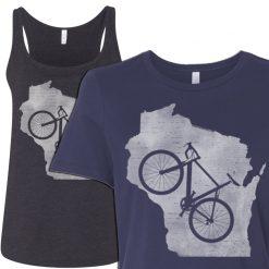 wisconsin ladies biker tshirt