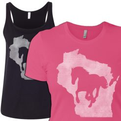 wi womens home horse t-shirt