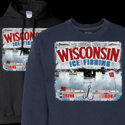 wisconsin ice fishing regulations mens hoodie