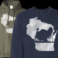 wi turkey hunter hoodie sweatshirt