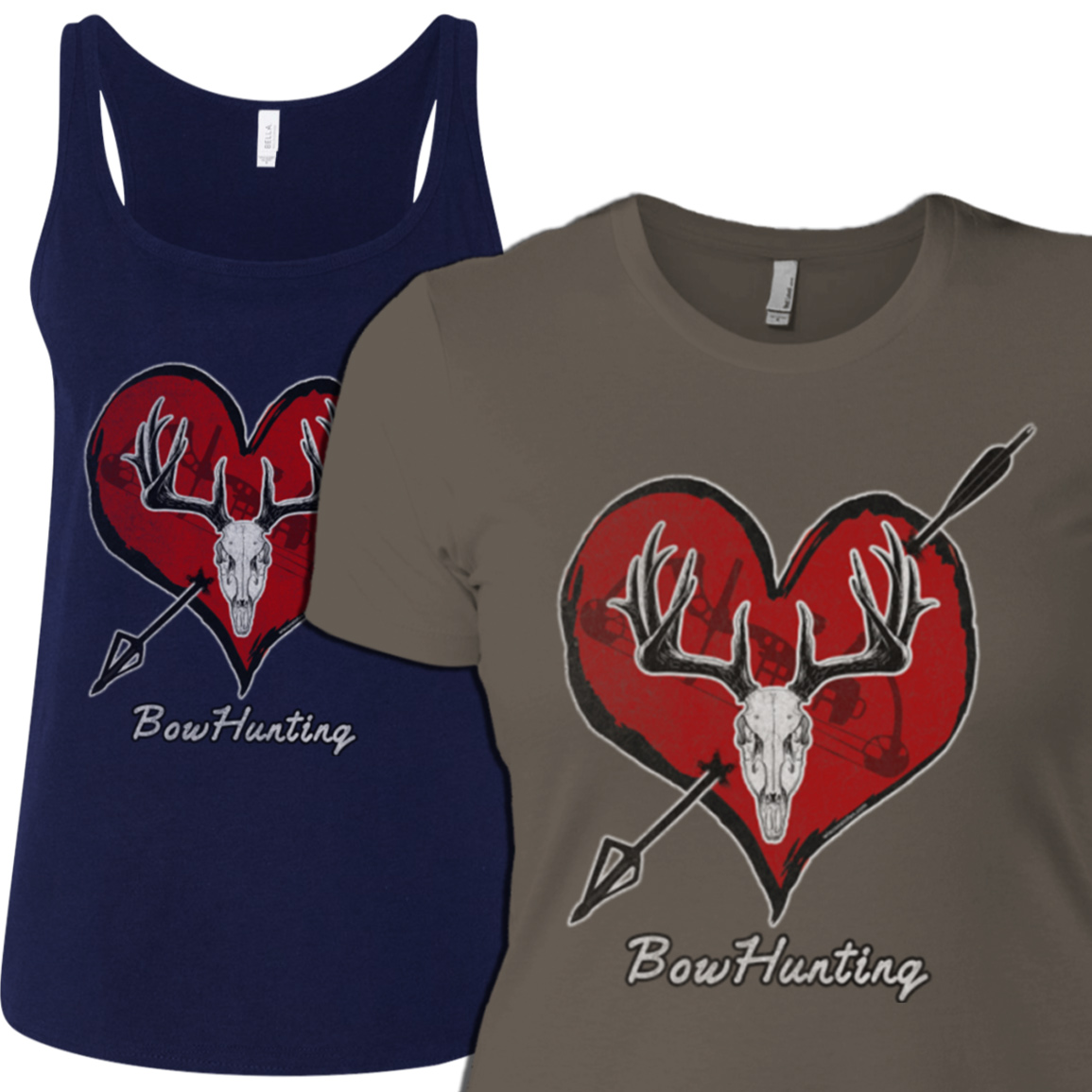 womens-bowhunting-tshirt-design