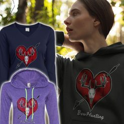 womans bow hunter design hoodies