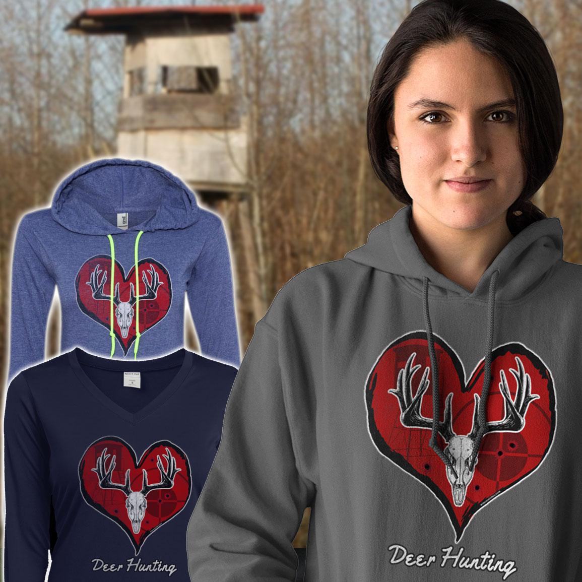 womans-deer-hunting-design-hoodie-sweater
