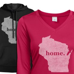ladies wisconsin home state apparel hoodie