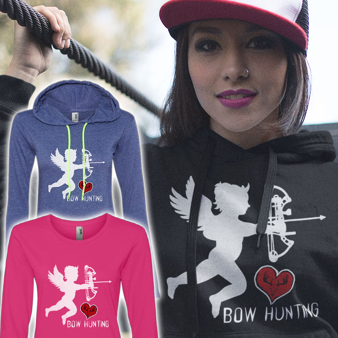 womens-cupid-bowhunting-hoodie-sweater