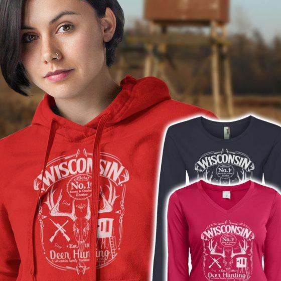 ladies deer hunting hoody sweater