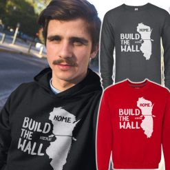 mens build the wall hoody