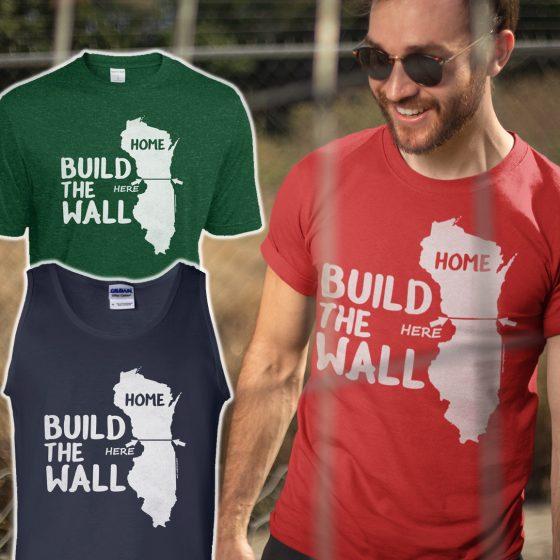 mens build wall t shirt