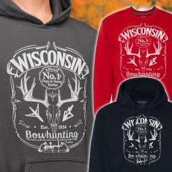 mens wisconsin bow hunter hoody
