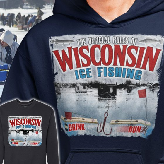 wisconsin mens ice fisherman hoodie