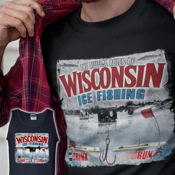 wisconsin ice fishing rules tshirt