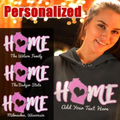 home wi personalized ladies hoodie