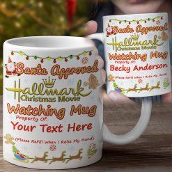 love hallmark christmas movies mug