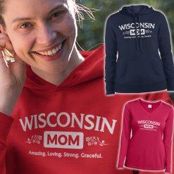 wisconsin mom hoodie