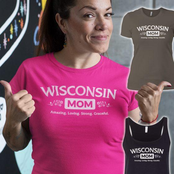 wisconsin moms tshirts