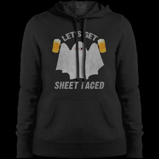 get sheet faced womens ghost hoodie