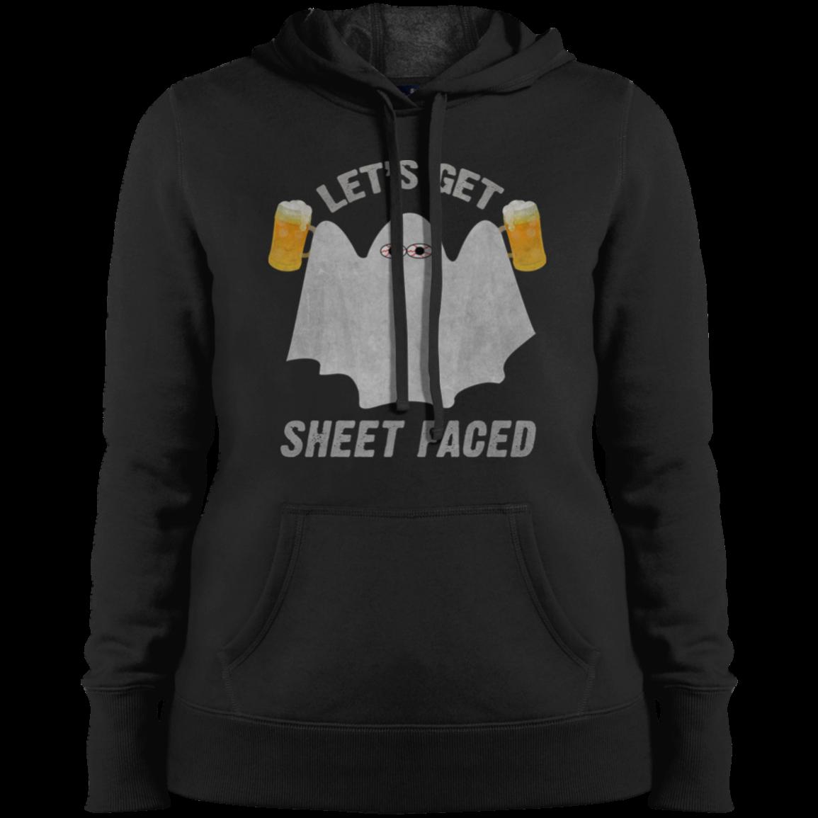 ladies get sheet faced halloween hoodie