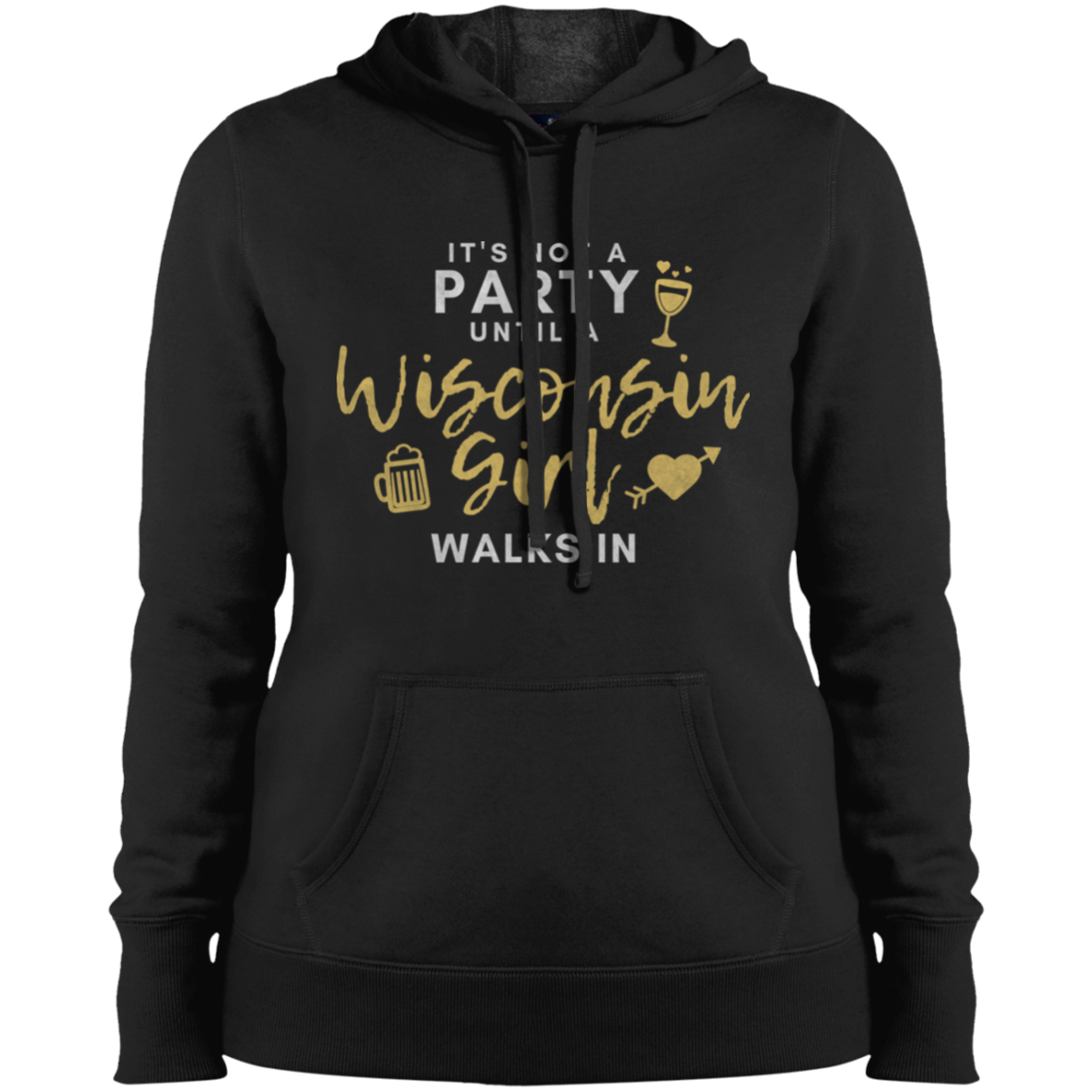 not a party wisconsin girl hoodie