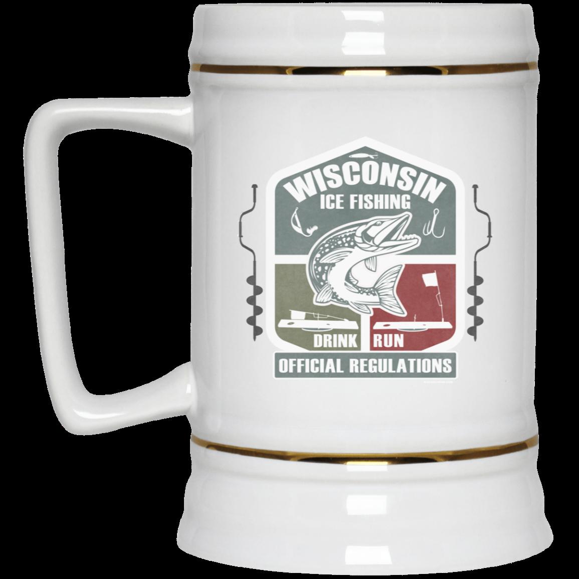 Wisconsin Ice Fishing Regulations Beer Stein