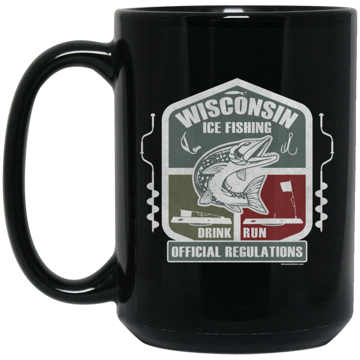 Wisconsin Ice Fishing Official Regulations Coffee Mug