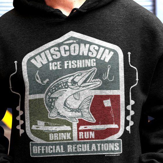 ice fishing rules hoodie